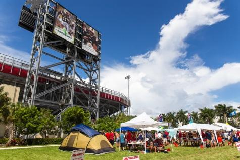 Confirmed, Lot Five will remain 2015 tailgate location