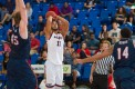 FAU forward Justin Raffington had seven points and four points in the Owls' loss on Feb. 7. Photo by Max Jackson
