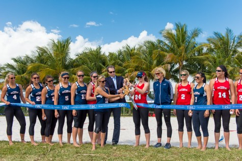 Owls sand volleyball team opens newly constructed courts