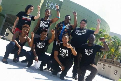 "Black student organizations participate in ""Die-in"" demonstration on Free Speech lawn"