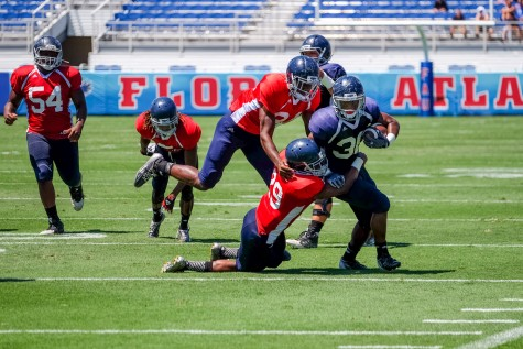 Football: Blue victorious over Red 31-21 in annual spring game