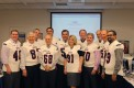 Board of Trustees members wear FAU football jerseys to celebrate the team's last two wins against Tulane and Southern Miss. Photo by Sarah Suwak.