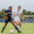 UTSA sophomore midfielder Makayla Schmidt (13) fights for possession against Owls junior defender Sophie Sanchez (1) during last Sunday's 1-0 Owls loss. Brandon Harrington| Photo Editor