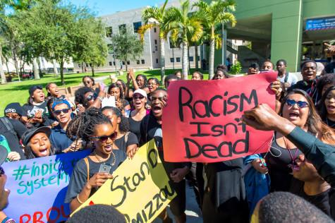 NAACP stages march at FAU to support Mizzou