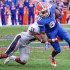 Senior safety Sharrod Neasman (29) tackles Florida Gators' wide receiver Antonio Callaway (81) during last week's 20-14 loss in Gainesville, FL. Mohammed Emran | Asst. Creative Director