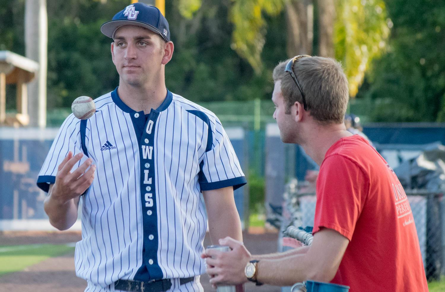 Junior pitcher Colyn O'Connell has recorded an ERA of 1.50 after 15 appearances this season. Ryan Lynch | Multimedia Editor
