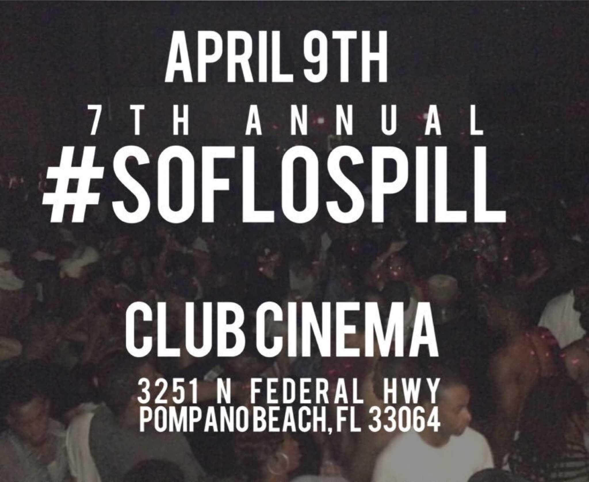South Florida Spill flier via Twitter