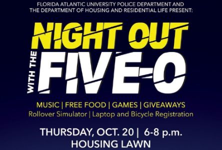 """FAU Police, Department of Housing to host """"Night Out with the Five-0"""""""