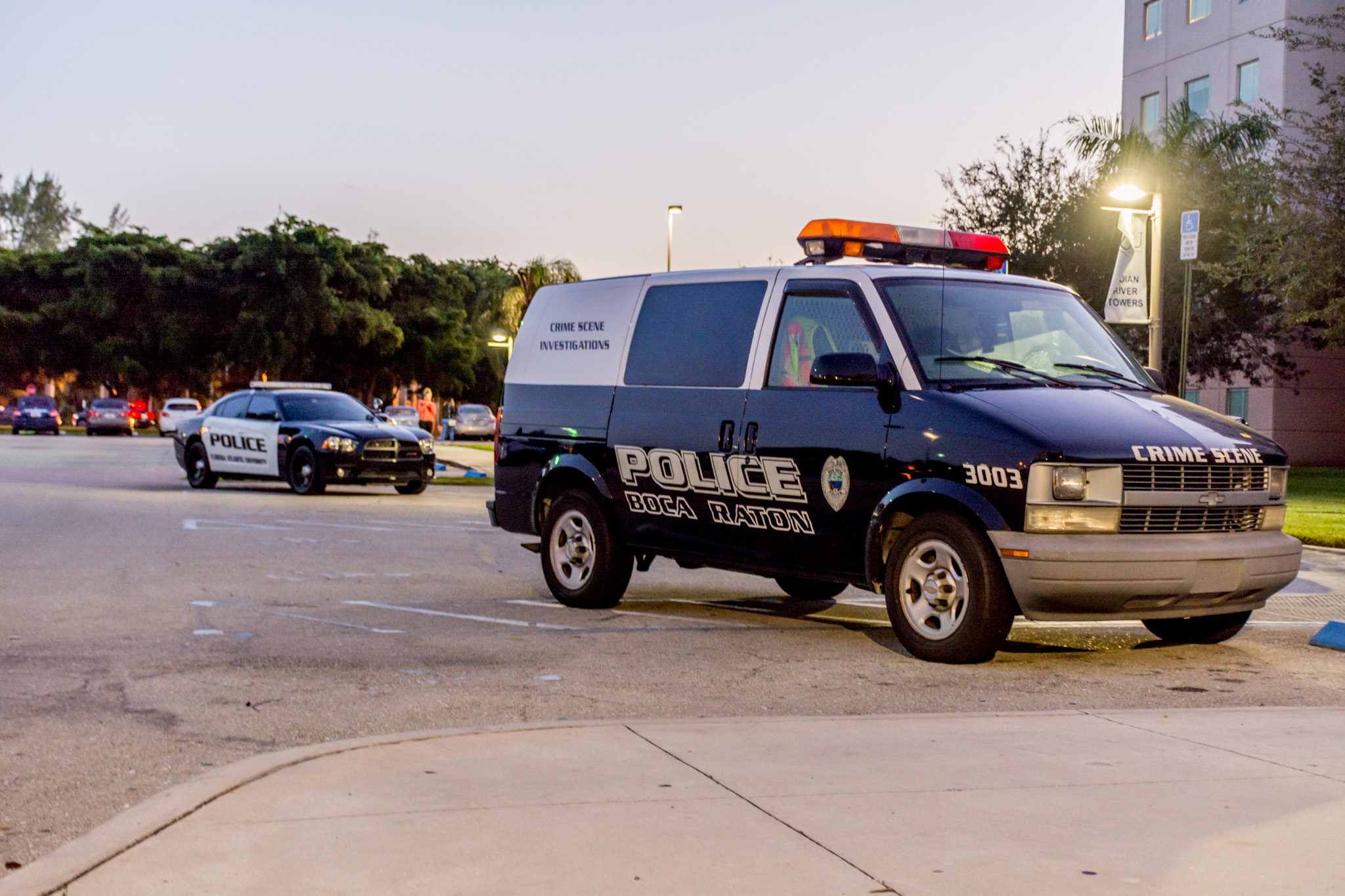 Boca Raton Police were called to Indian River Towers Wednesday after a student died in the residence hall. Jonathan Scott | Contributing Photographer