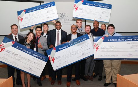 Four FAU students win first place in Business Plan Competition
