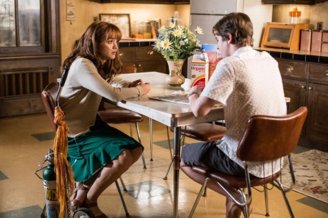 Emma Decody (Olivia Cooke) tells Norman (Freddie Highmore) about Bradley's (Nicola Peltz) clothes and a suicide note that were found along the cliff line by the beach. Photos courtesy of http://www.aetv.com.
