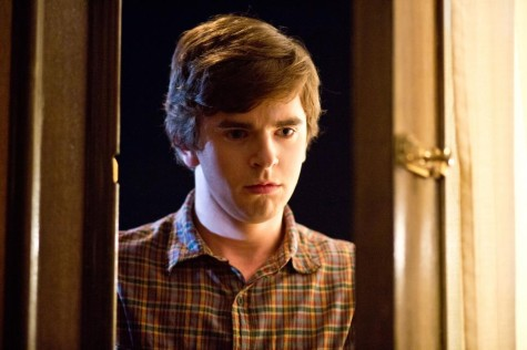 Norman (Freddie Highmore) overhears Norma (Vera Farmiga) and Dylan's (Max Thieriot) screaming match and snaps. Image courtesy of www.aetv.com.