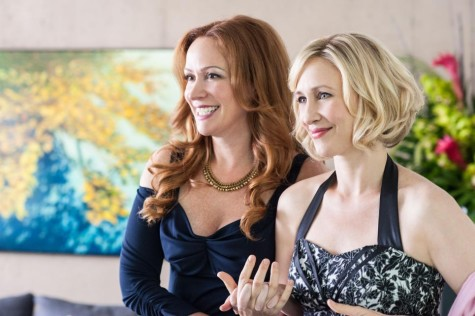 Norma (Vera Farmiga) tires to enjoy herself at a fancy party with new best friend  Christine Heldens (Rebecca Creskoff). Photos courtesy of http://www.aetv.com.