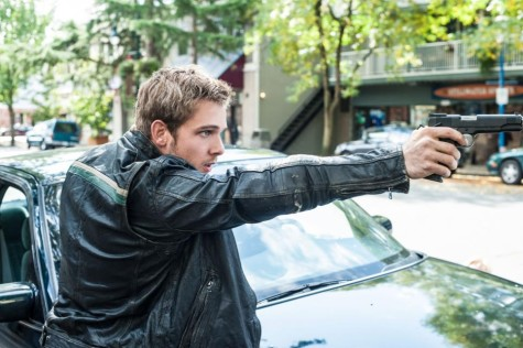 Dylan (Max Thieriot) gets caught up in a drive-by between two rival drug lords. Image courtesy of www.aetv.com.
