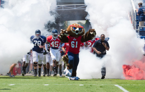 FAU Football exits the tunnel for their Spring Game on April 5. Photo by Max Jackson