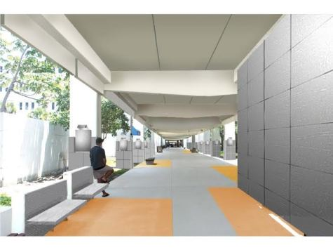Preliminary design for the Breezeway renovations.  Photo: Perkins and WIll Architect