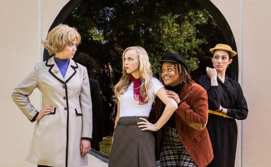 The all-female cast of FAUs production of Rhinoceros.  Photo: KRG Photography