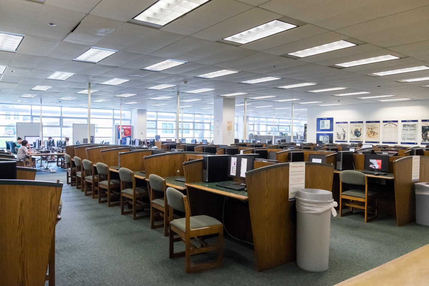 First floor library next to Dunkin Donuts. [Mohammed F Emran | Web Editor]