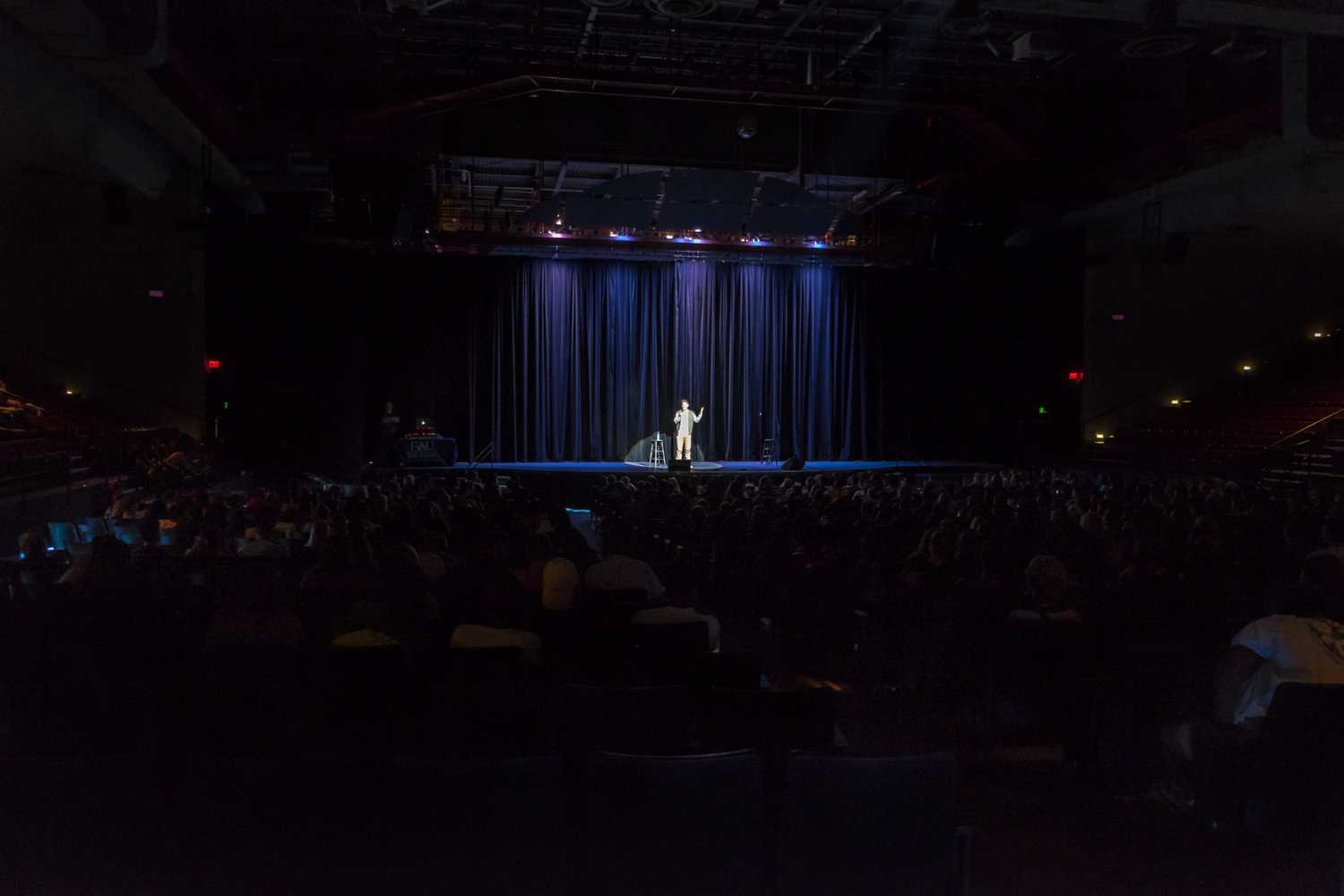 Auditorium was packed with FAU students. [Mohammed F Emran | Web Editor]