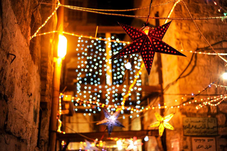 Ramadan decorations in Jerusalem