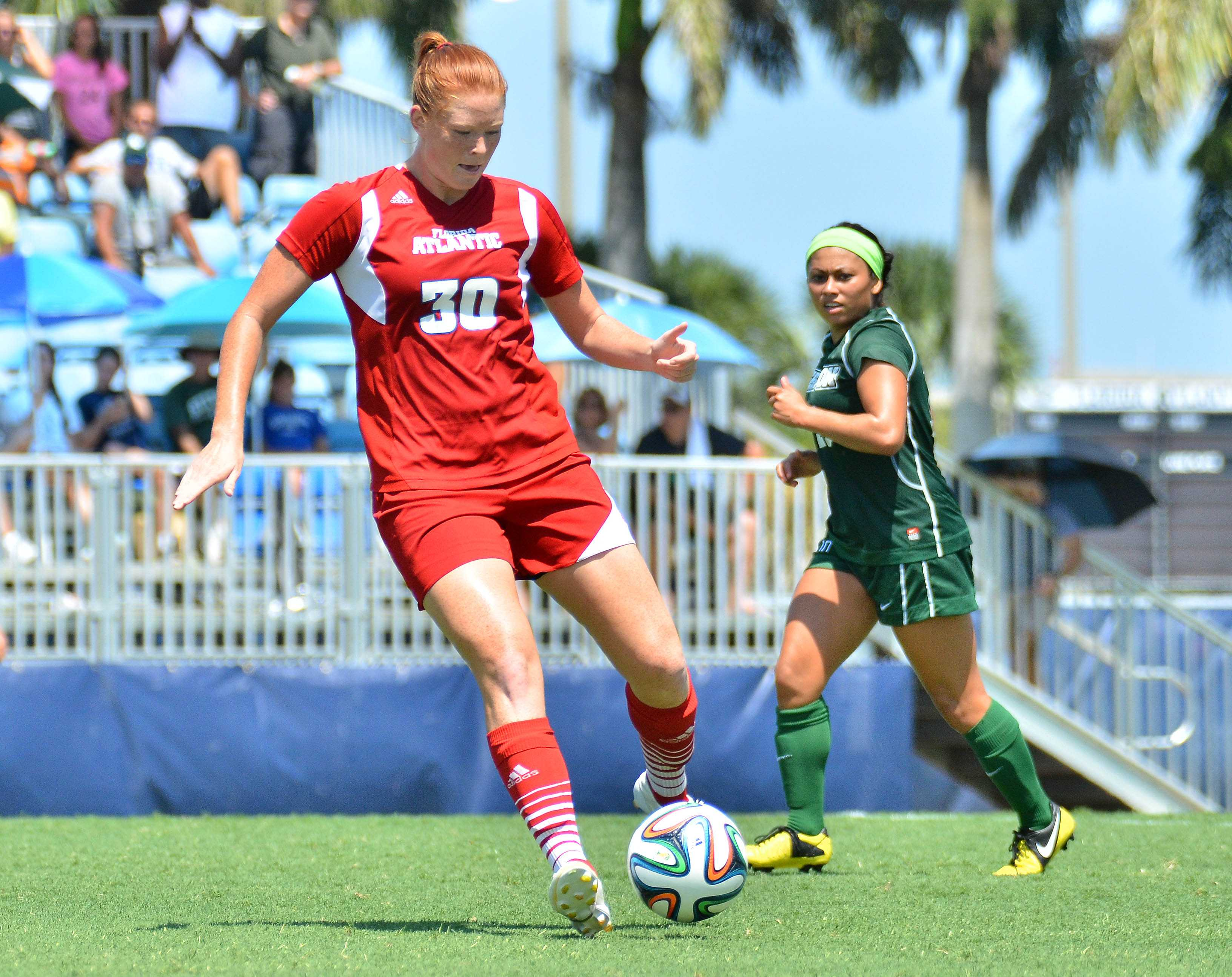 Senior forward Taylor Townsend dribbles during last year's 2-2 tie vs Stetson. Photo by  Ryan Murphy