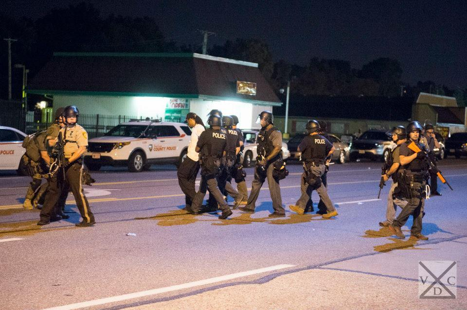 An arrest being made in Ferguson, Missouri. Photo by VDC Photo 2014