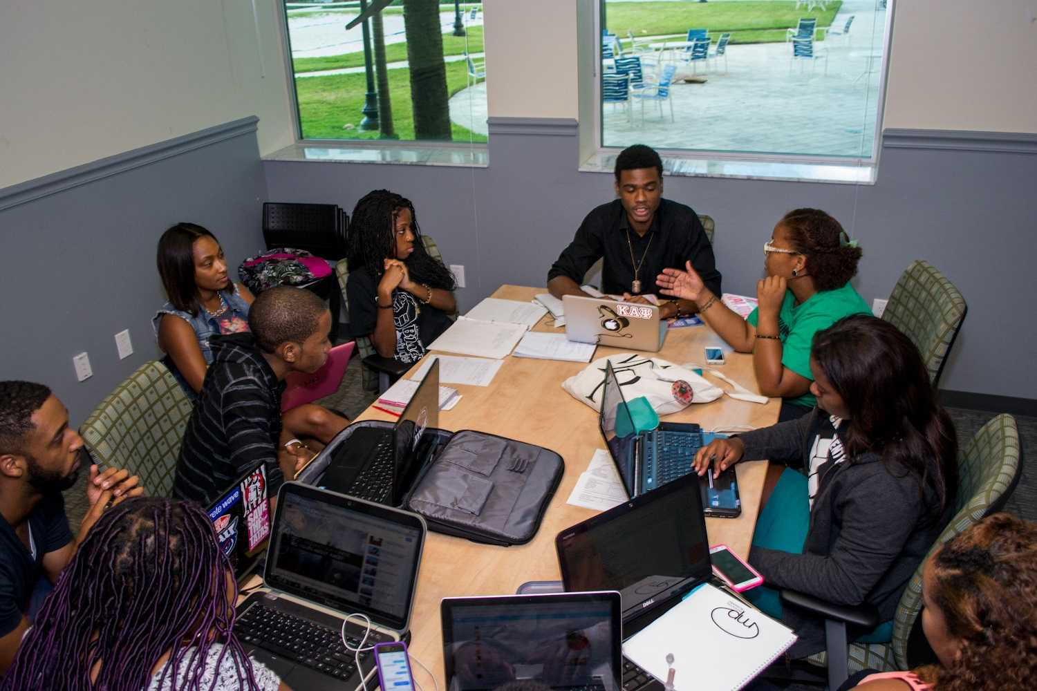 [Alexis H. | Contributing Photographer] BSU meeting discussing the Ferguson shootings.
