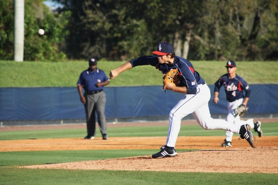 RJ Alvarez was selected with the 114th pick in the MLB Draft. He is shown here pitching during his final year with the Owls. Photo by Christine Capozziello