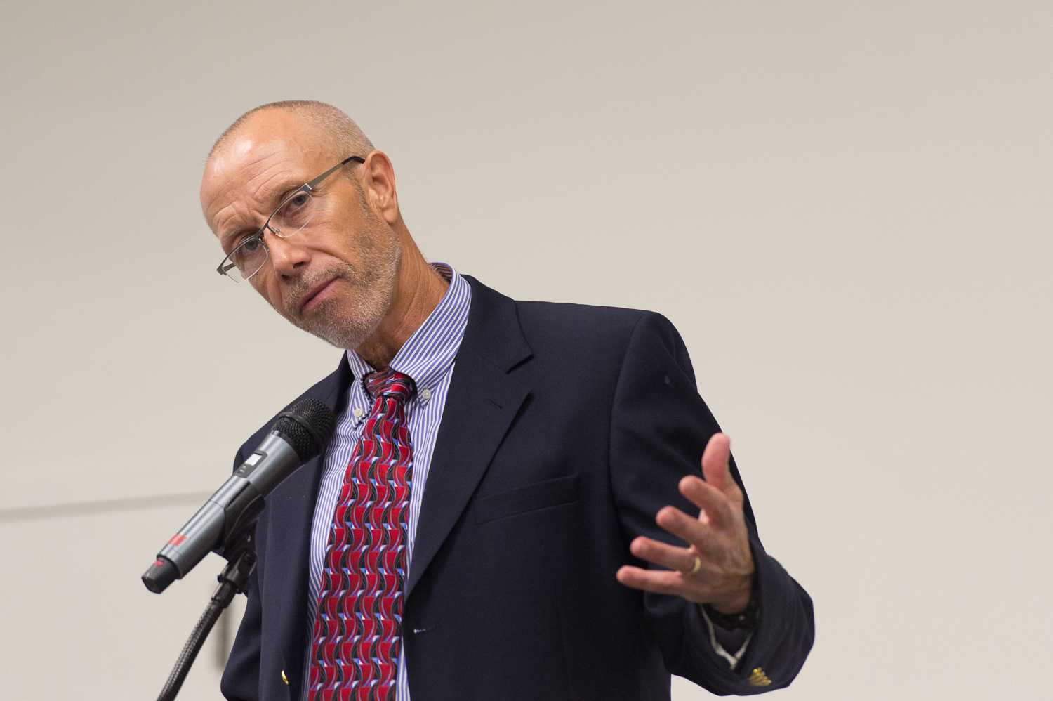 """Dr. Marshall DeRosa, a political science professor at FAU, put on this event along with the Apgar Foundation and James Madison Institute. Dr. DeRosa's goal with putting on this event was """"to heighten FAU's profile in the community regarding public policy issues important to Floridians."""""""