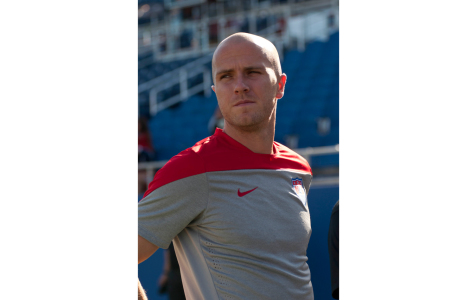 Midfielder Michael Bradley will play the ninety first cap of his career against Honduras on Oct. 14 at 8 pm. [Sabrina Martinez | Assistant Creative Director]