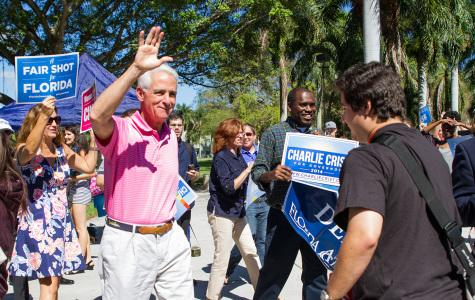 Uninformed FAU students join Charlie Crist on campus to talk voting