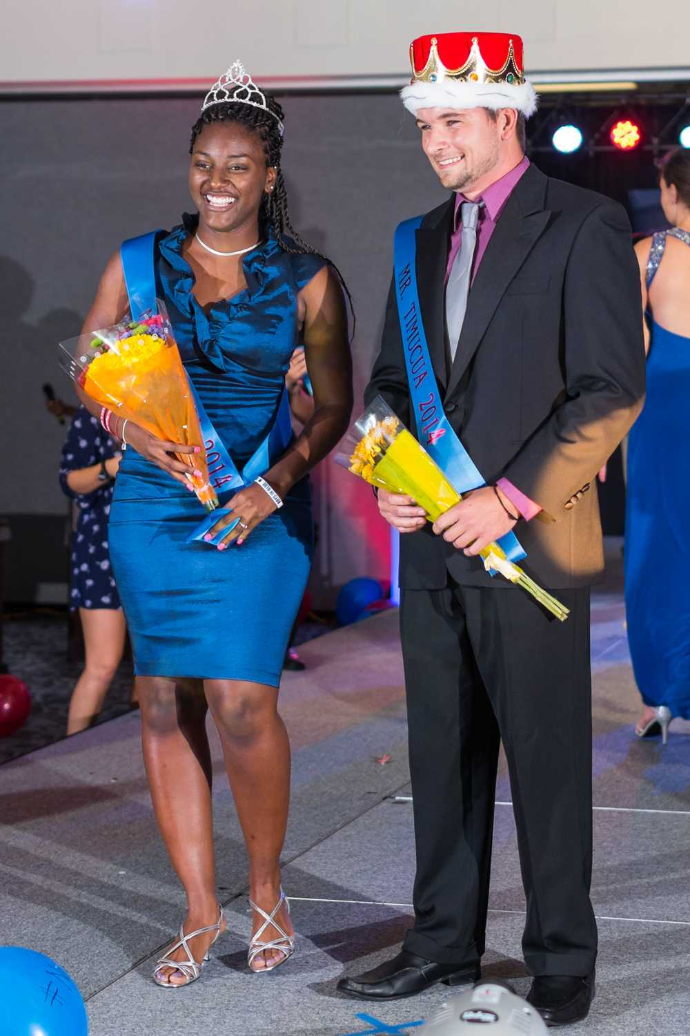 This year's FAU Timucua Pageant winners are Alana Chiyembekeza (left) and Michael Brown (right). [ Mohammed F Emran | Web Editor ]