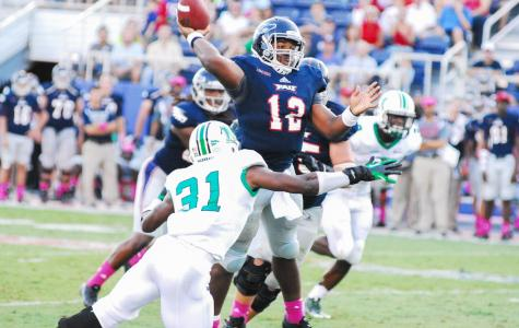 Florida Atlantic lost 24-23 to Marshall last year on a late field goal. Photo by Ralph Landau