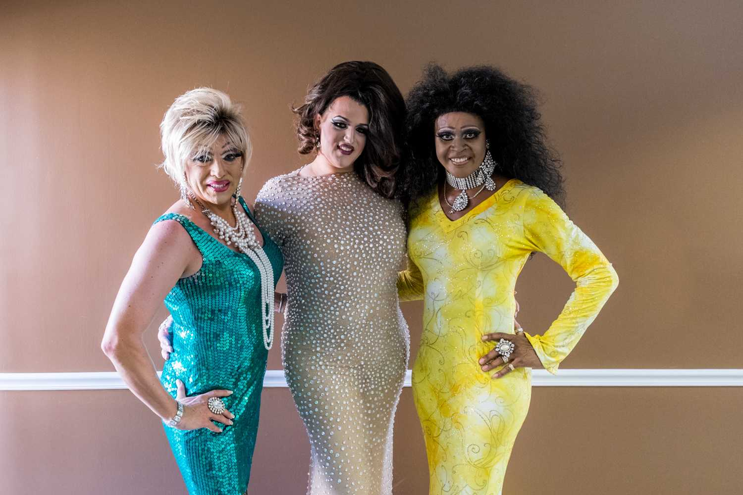 (Left to right) Dee Dee Van Carter, Kyla McCray-Taylor, Shardé Ross, were the Drag Queen entertainment for Pride Fest. [Mohammed F Emran | Web Editor]