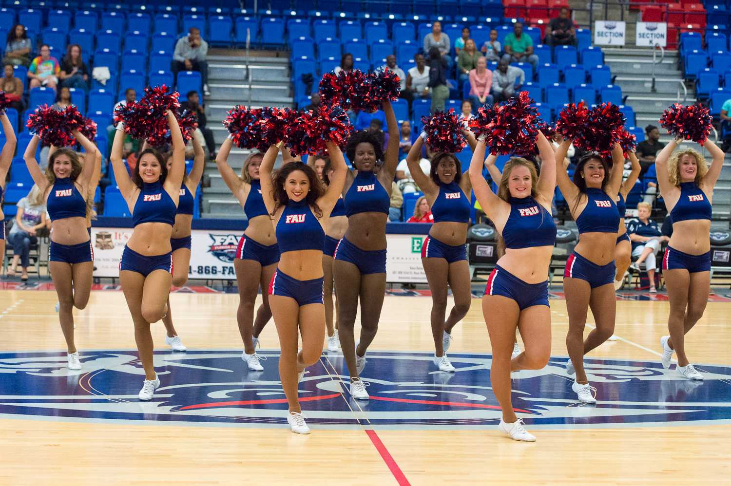 The FAU Dance Team performs at halftime of the FAU v. Lynn game on Sunday, Nov 9th.
