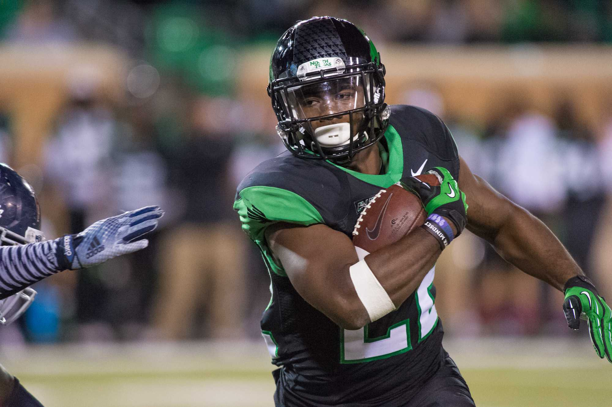 [ Max Jackson | Photo Editor ] North Texas running back Antoinne Jimmerson rushed for 114 yards with 17 carries against FAU.