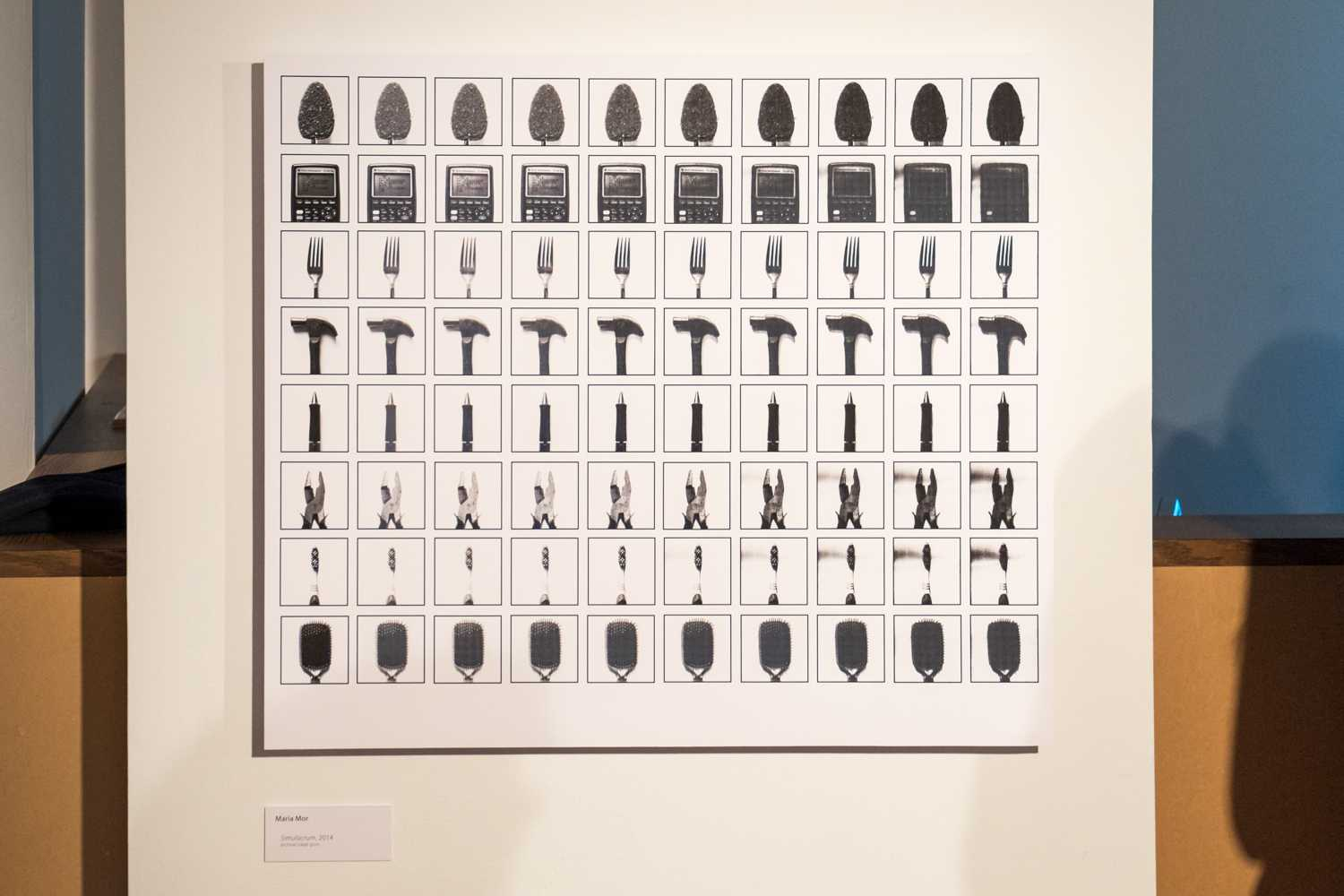 "Maria Mor's piece in the exhibit is titled ""Simulacrum.""  Mohammed F Emran 