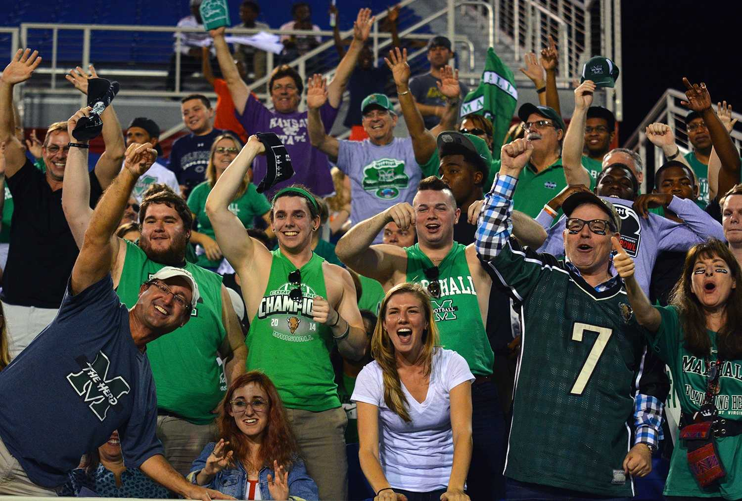 Known for having a strong contingent in south Florida, Marshall fans made up a significant portion of the announced 29,419 who attended the Boca Raton Bowl.