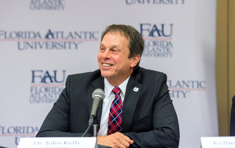 John Kelly became the seventh president in Florida Atlantic history on Jan. 17, 2014. Photo by: Max Jackson