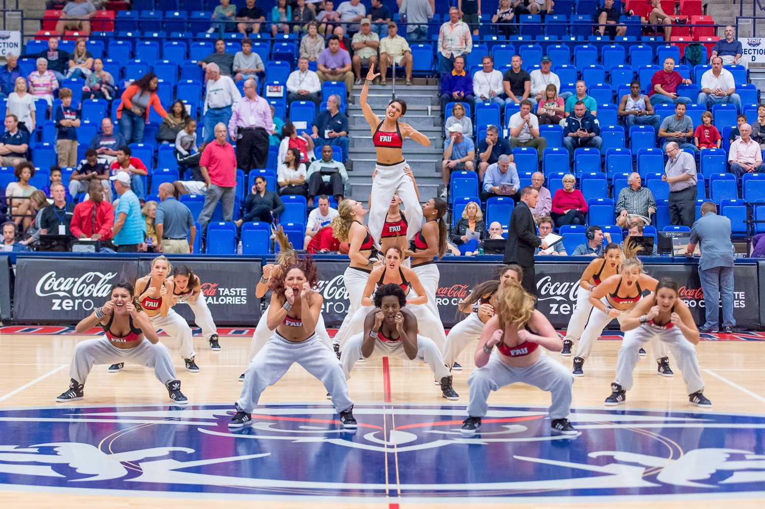 The FAU Dance Team performs at halftime during the FAU v. ECU game on Wednesday evening, Dec 3.