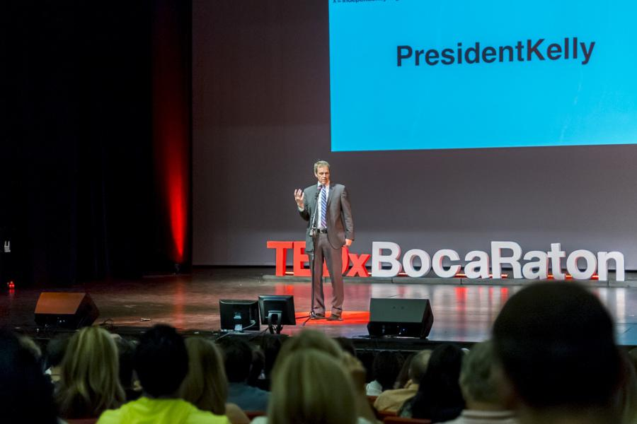 President+John+Kelly+speaks+to+a+crowd+during+a+TED+X+event+in+on+FAU%27s+Boca+Raton+campus+in+May+2014.+Photo+by+Mohammed+F.+Emran