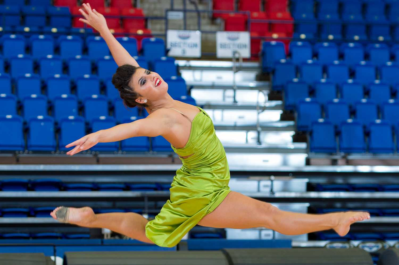Alexa Lobosco, freshman on the dance team, performs at the 2015 FAU Dance Team Showcase.