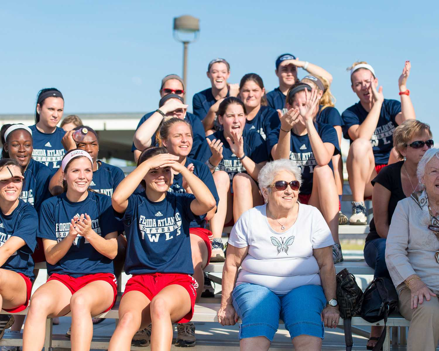 The FAU Softball team was in attendance to cheer on their fellow Owls on Friday Jan. 30.