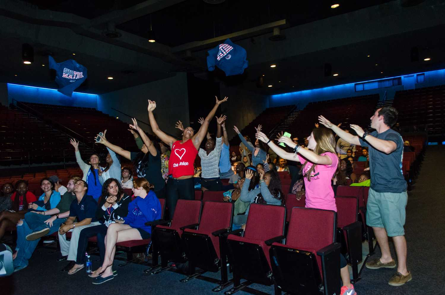 Free shirts are always a good way to get students excited. Tim Murphy   Web Photo Editor