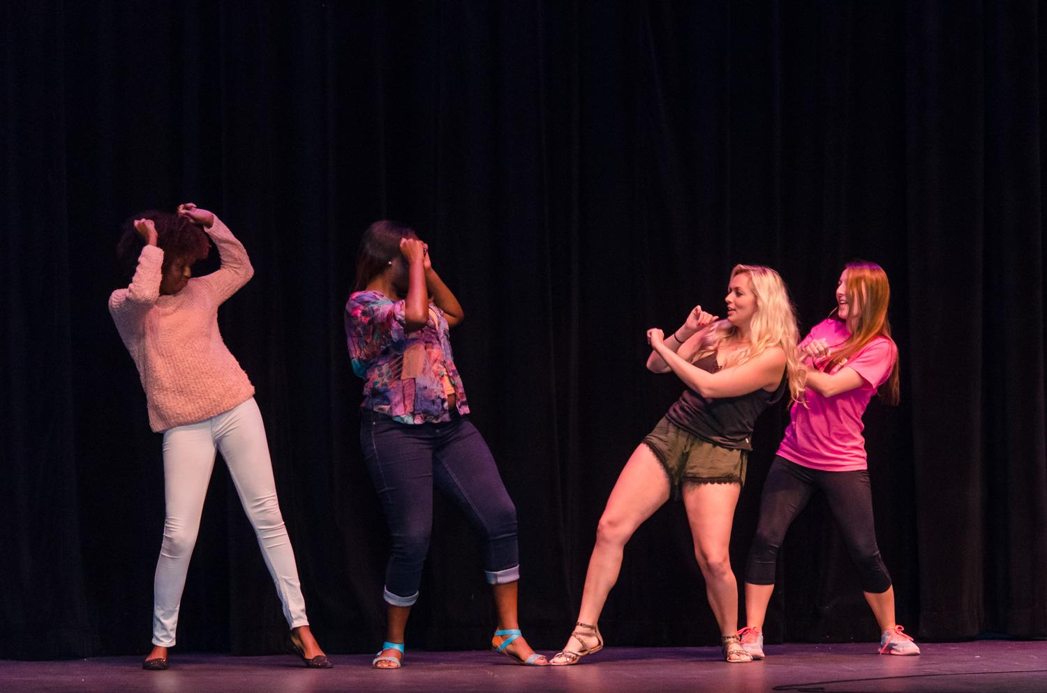 """FAU students doing their best """"wobble."""" Tim Murphy   Web Photo Editor"""