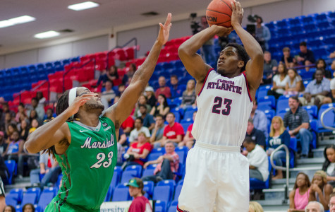 FAU guard Solomon Poole scored 18 points in 28 minutes during the Owls' win over Marshall on Jan. 17. Photo by Ryan  Murphy
