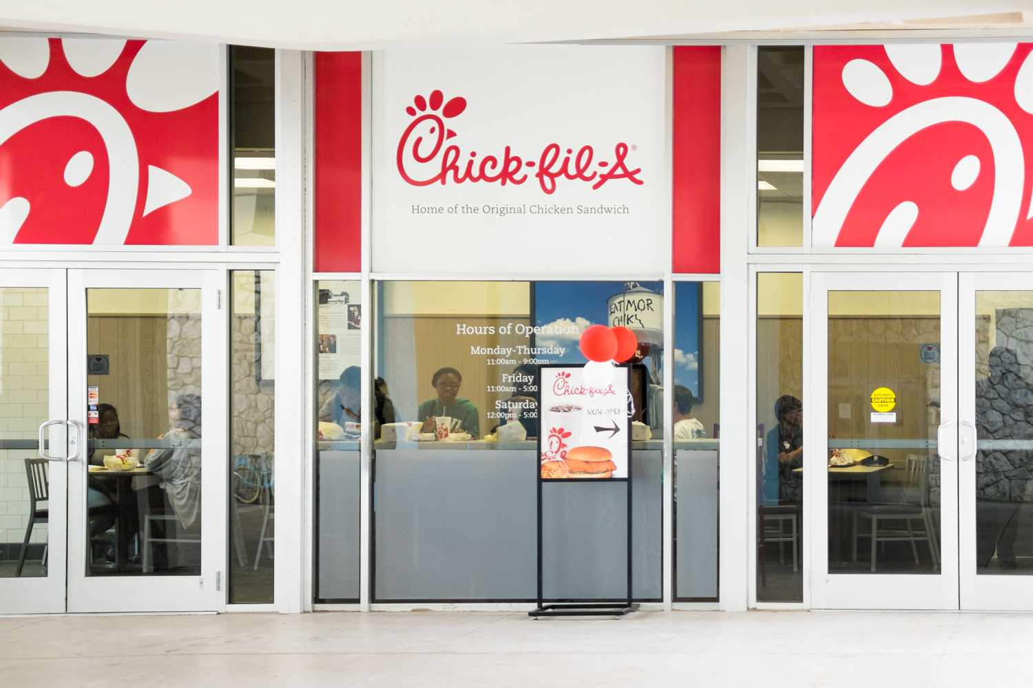 FAU's Chick-fil-A is now open. It is located next to FAU's Library. Mohammed F Emran | Web Editor