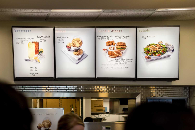 FAU's Chick-Fil-A Express menu is a smaller menu of Chick-Fil-A. Mohammed F Emran | Web Editor