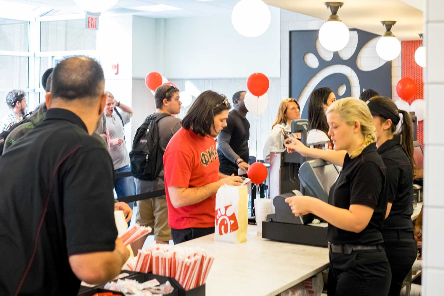 Students buying lunch at FAU's Chick-fil-A Express. Mohammed F Emran | Web Editor