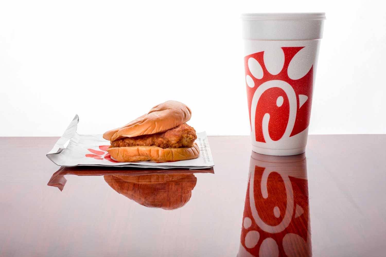 FAU's Chick-fil-A chicken sandwich and medium drink. Mohammed F Emran | Web Editor